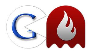 pacman se come a 6 empresas tecnologicas INFOGRAFIA google wildfire